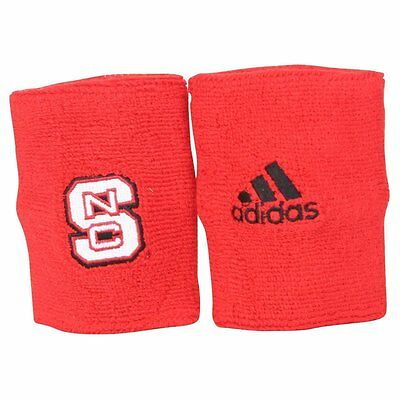 New!ADIDAS NCAA North Carolina NC State Wolfpack Red Wristbands Basketball *PAIR
