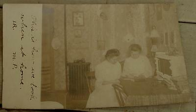 Vintage Sepia Photo Postcard, Real Photo, 1900s, FAIR COND GREAT OLD CARD