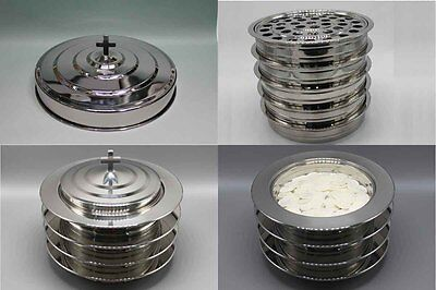8 Communion trays with 2 lids and 6 Bread trays with 2 lids(brand new)