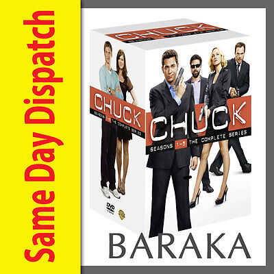 Chuck: Complete Series Seasons 1 2 3 4 5 Dvd Box Set 23 Discs 1 - 5 New