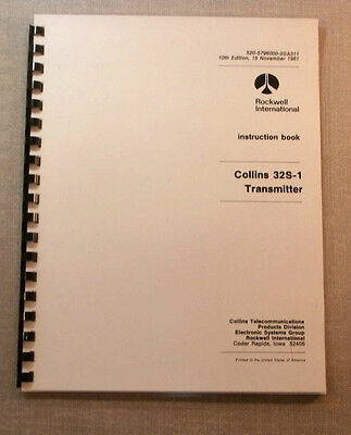 Collins 32S-1 Instruction Manual - comb bound and protective covers!