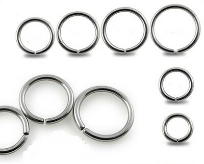 New Surgical Steel Eyebrow Nose Cartilage Ring Hoop Stud Various Sizes