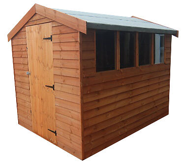 6 x 4 loglap apex or pent 19mm heavy duty garden shed not for Garden shed 7x4
