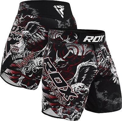 RDX Fight MMA Grappling Short UFC Cage Kick Boxing Trunks Muay Thai Gym Mens AU