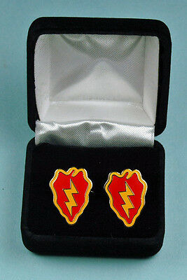 25th Infantry Division Army Cufflinks in Presentation Gift Box USA Cuff links