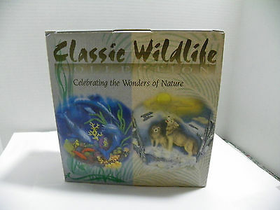 Dolphins Playing in Ocean Collectible Plate with base-Classic Wildlife Collect
