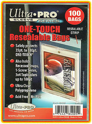 600 Ultra Pro ONE TOUCH RESEALABLE BAGS NEW magnetic screw toploader card sleeve