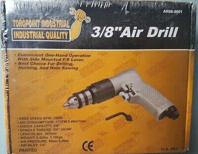 """3/8"""" Air Drill. Heavy Duty made in Taiwan. Reversible"""