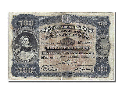 Switzerland Banknotes, Switzerland, 100 Francs type 1918