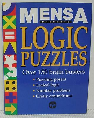 MENSA LOGIC PUZZLES by ROBERT ALLEN Over 150 Brain Busters