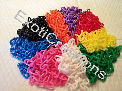 3mm Plastic Chain (qty 27 ft) Bird toy parts / Plastic Jewelry Chain