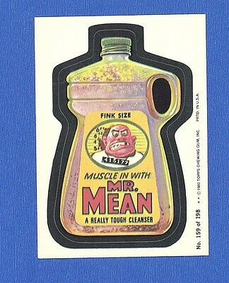 1980 Original  Wacky Packages 3rd Series #159 Mr. Mean Cleanser