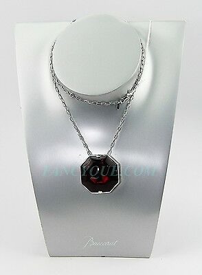 BACCARAT JEWELRY LILLUSTRE MEDUIM NECKLACE MIRROR RED STERLING SILVER NEW BOX