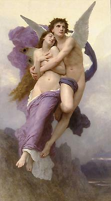 The Abduction of Psyche by Bouguereau Canvas Giclee Print or Fine Art Poster