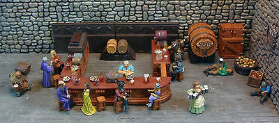 Painted Deluxe Bar Furniture Set - Works with Dwarven Forge & DnD D&D