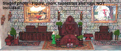 Painted Bed Chamber Furniture Set - Works with Dwarven Forge & DnD D&D