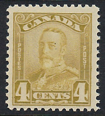 Canada Scott # 152  4 cent bister   Scott Catalog Val $50.00  F-VF Never hinged