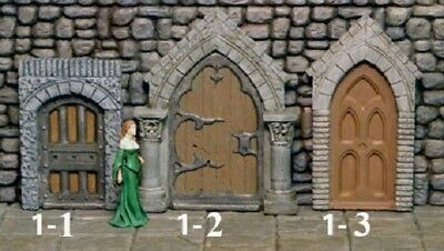 U Pick- 3 Moveable Doors - Instant door - Works with Dwarven Forge & DnD D&D