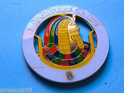 Masonry Chapter Past Grand  Commnandress  Daughters  Of Isis Auto Cut Out Emblem