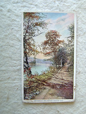 DRIVEWAY, DELAWARE WATER GAP - Prudential Life Insurance- EARLY 1900'S POST CARD