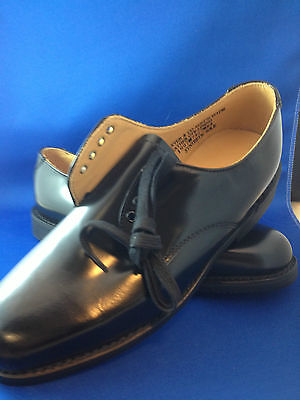 School shoes dress shoes mens black leather military issue lace up baxter work