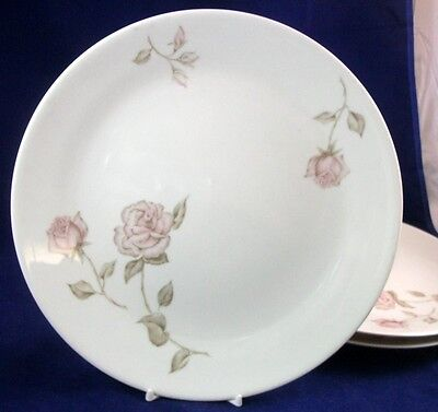Iroquois BEIGE ROSE 3 Dinner Plates Coupe Shape by Ben Seidel GREAT VALUE