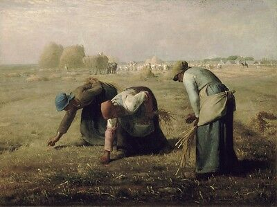 "Jean-Francois Millet : ""The Gleaners / Glaneuses"" (1857) — Giclee Fine Art Print"