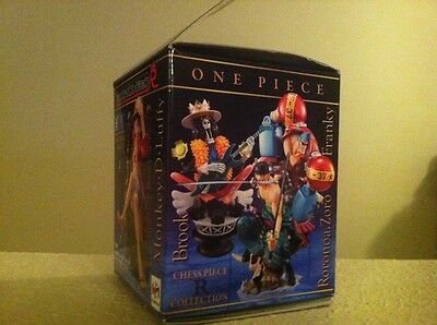 One Piece Anime Figure chess collection 2 Luffy -King (White Pedestal)