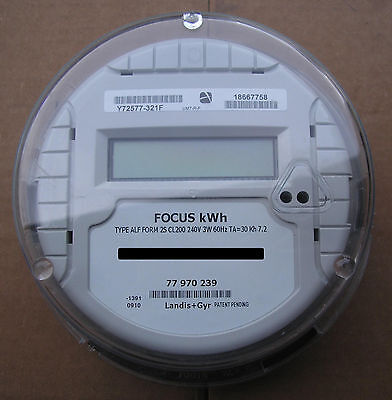 Landis & Gyr (L&g), Watthour Meter (Kwh), Type Alf, Focus, 240 Volts, 200A, Fm2S