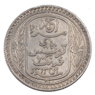 Colonial Coins, Tunisia, Ahmed Bey, 10 Francs