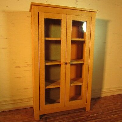 Dolls House Miniature  Kitchen Glazed Pine Cupboard
