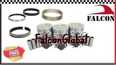 Jeep 4.0L/242 Sealed Power Hypereutectic Pistons+Cast Rings 2000-06 030 gaskets