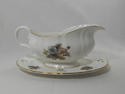 Royal Worcester Dorchester Gravy Boat with Underplate