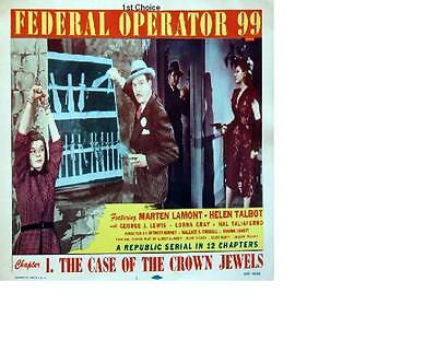 Federal Operator 99 - Cliffhanger  Movie Serial DVD Marten Lamont  Helen Talbot