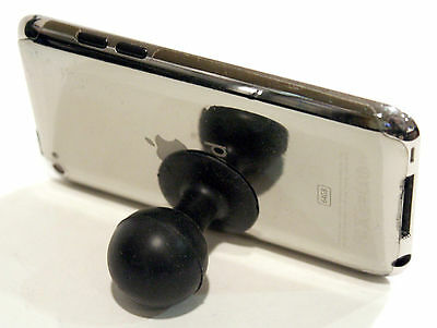 Black Ball Rubber Suction Cup Side Stand for iPod Touch HTC Galaxy S SII Phone