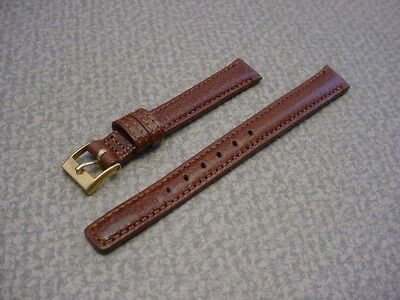 Ladies Speidel NOS 11mm #R272330TAN Tan Water Buffalo Leather Watch Band W2173