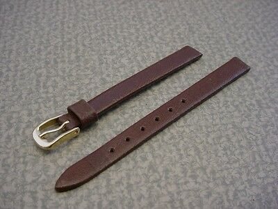 Ladies Speidel NOS 8mm #S441133BR Brown Fine Grain Cowhide Watch Band W2189
