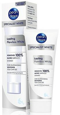 PEARL DROPS Clinically Proven Lasting Flawless White Stain Whitening Toothpaste