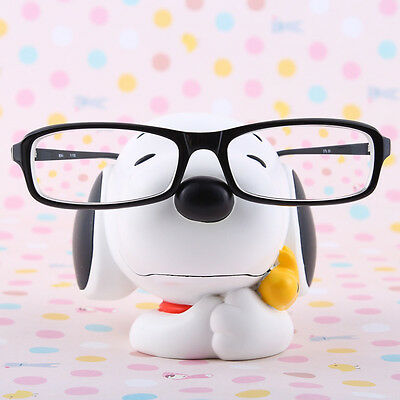 Disney Snoopy Eye Glasses Sunglasses Stand Statue White Color