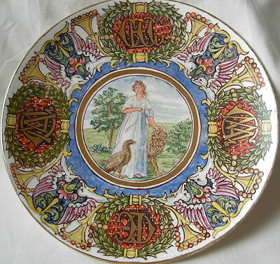 Antique Fully Hand Painted Minton  Porcelain Cabinet Plate  Signed-C.g.gray 1922