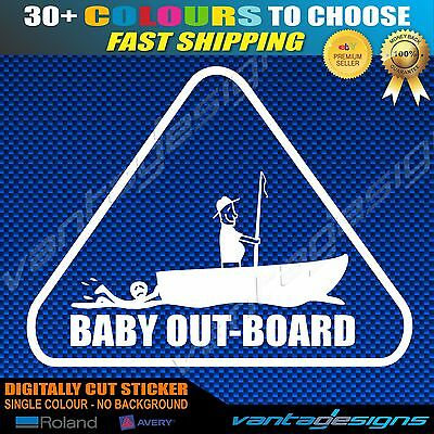 BABY OUT-BOARD Funny Car Sticker Decal Boat Fishing Anti Stick Family