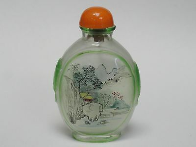 Superb Antique Chinese Reverse Painted Snuff Bottle 古董鼻烟壶