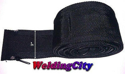 WeldingCity TIG Welding Torch Cable Cover 24-ft Long 3-in Wide Nylon w/ Zipper