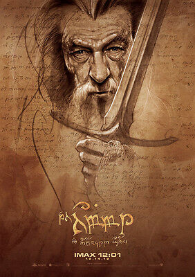 Movie Poster Print - The Hobbit - Gandalf **DISCOUNTED OFFERS**  A3 / A4