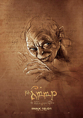 Movie Poster Print - The Hobbit - Gollum **DISCOUNTED OFFERS**  A3 / A4