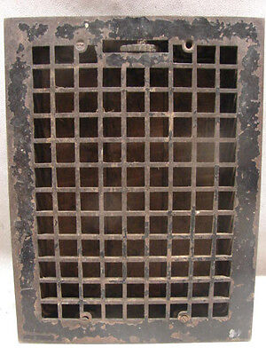 Vintage 1920S Cast Iron Heating Grate Square Design 15.75 X 12 A