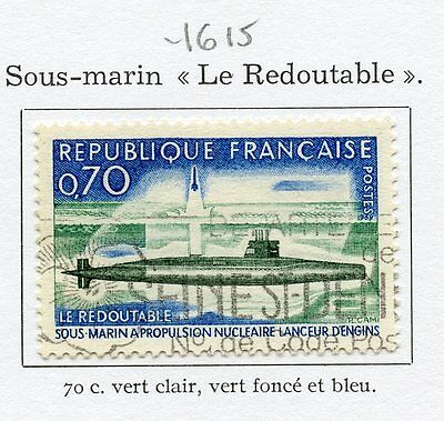 Stamp / Timbre France Oblitere N° 1615 Sous Marin Le Redoutable