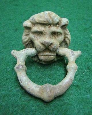 Vintage Brass Lion Head Drawer Pull  #1725-13