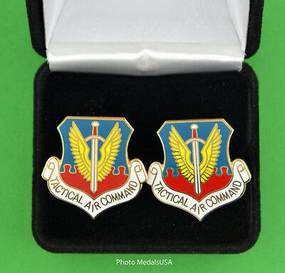 TACTICAL AIR COMMAND  AIR FORCE Cufflinks in Gift Box USAF TAC 984 0501