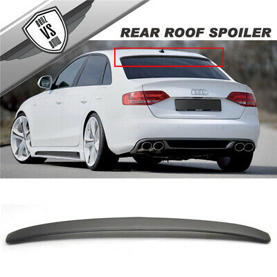 09-14 Audi A4 S4 B8 K8 4Dr Sedan Rg Style PU Rear Roof Window Visor Spoiler
